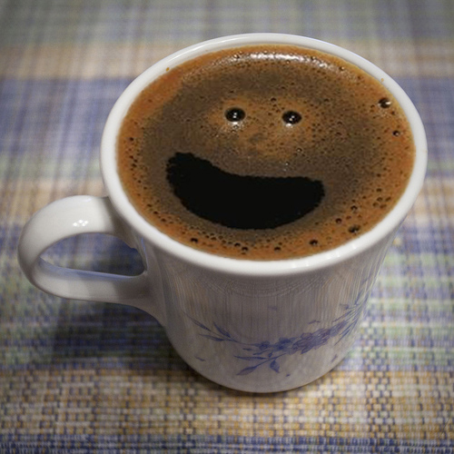 The happy coffee :D