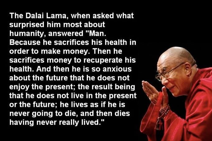 The Dalai Lama vision of humanity