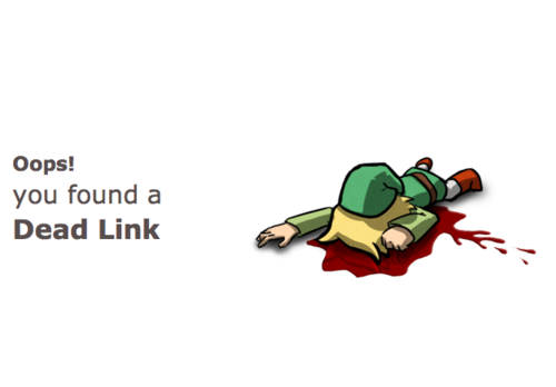 Oops you found a dead link (404 html page error nice idea)