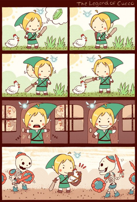 Link: The legend of Cucco