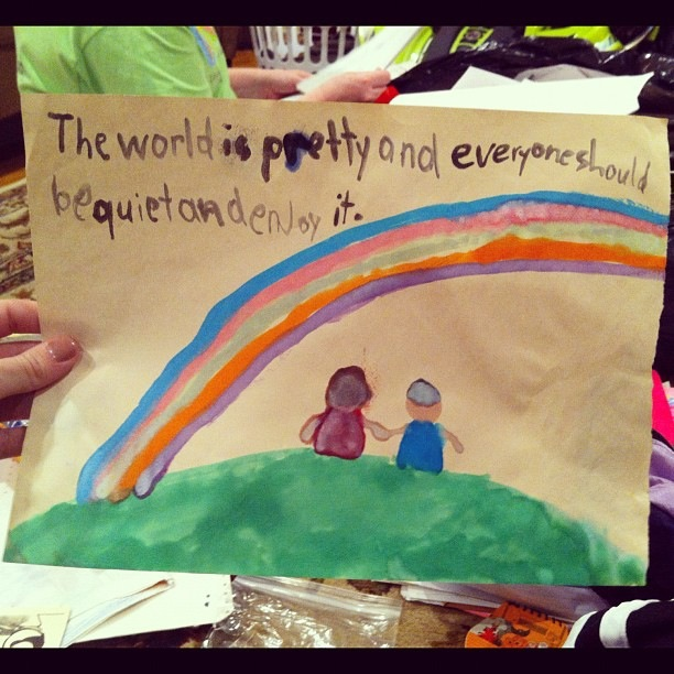 The brilliant philosophy of a 1st grader
