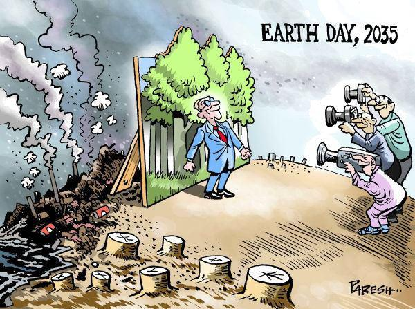 Earth day, 2035