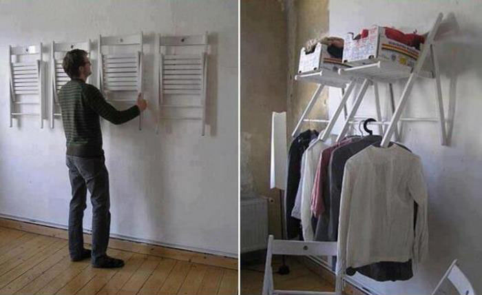 No closet? No problem! ヽ(´ー`)