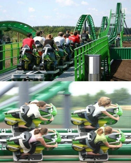 I wanna try that roller coaster 。◕ ‿ ◕。