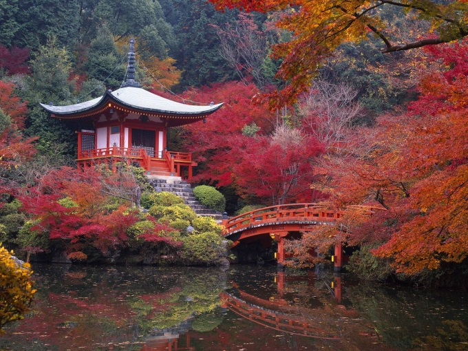 Daigo-ji Buddhist Temple in Autumn - Kyoto, Japan