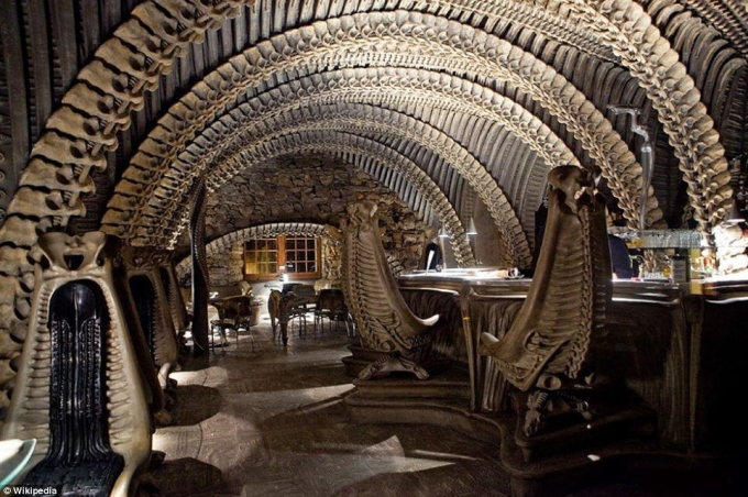 The 'Alien Bar' in Chur, Switzerland