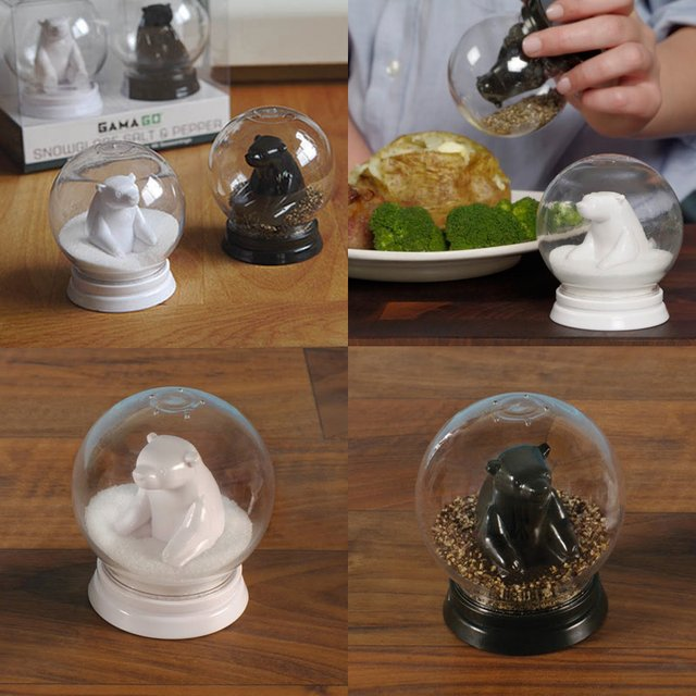 Snowglobe of Salt & Pepper