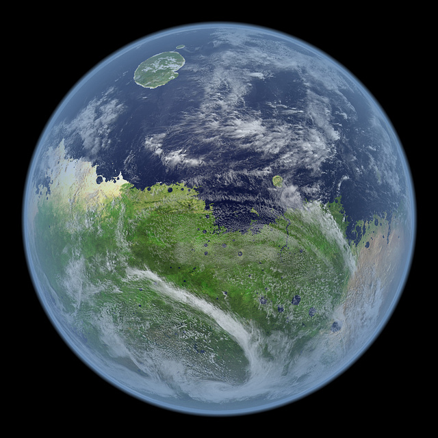 How mars would look like if it still had water 0_o