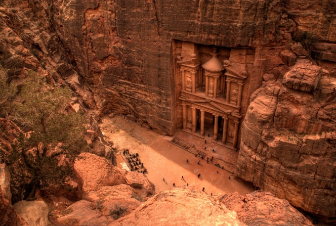 (*_*)  Petra from above, Jordan