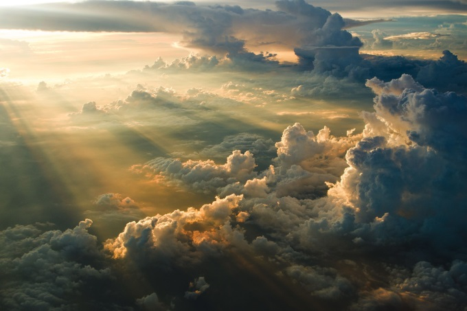 ( ゚ Д゚) Sunset from above the clouds