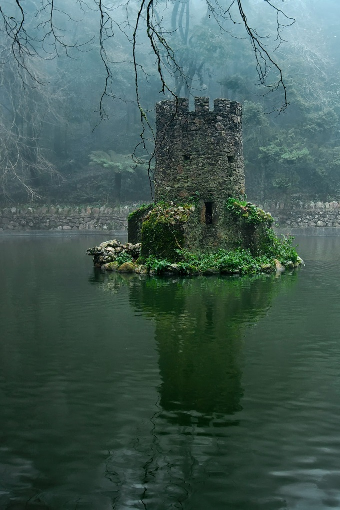 The overgrown ruins of a Celtic castle (n_n)/
