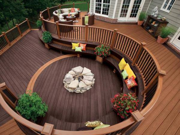 Beautiful deck design concept