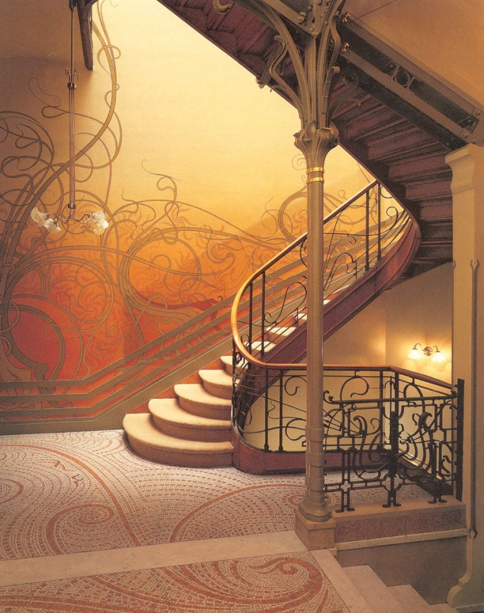 Staircase at the Hôtel Tassel in Brussels