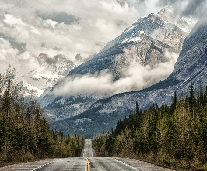 Road to the clouds, Banff National Park, Alberta, Canada (n_n)/