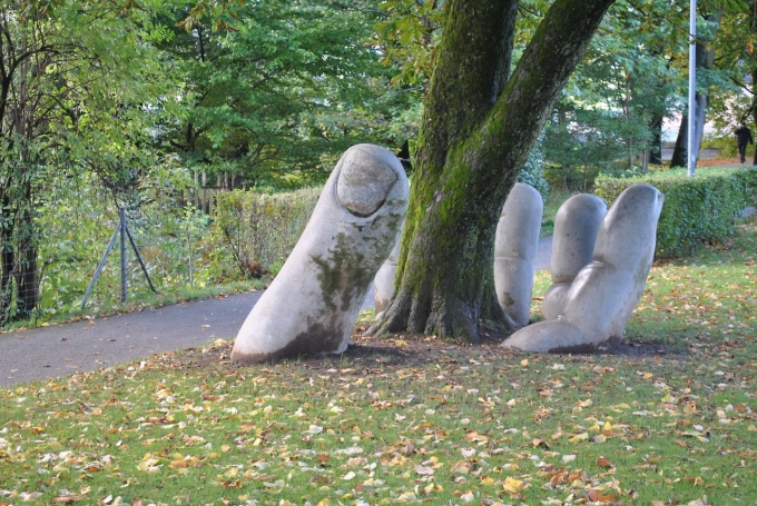 Amazing sculpture called 'The Caring Hand' in Glarus, Switzerland :)