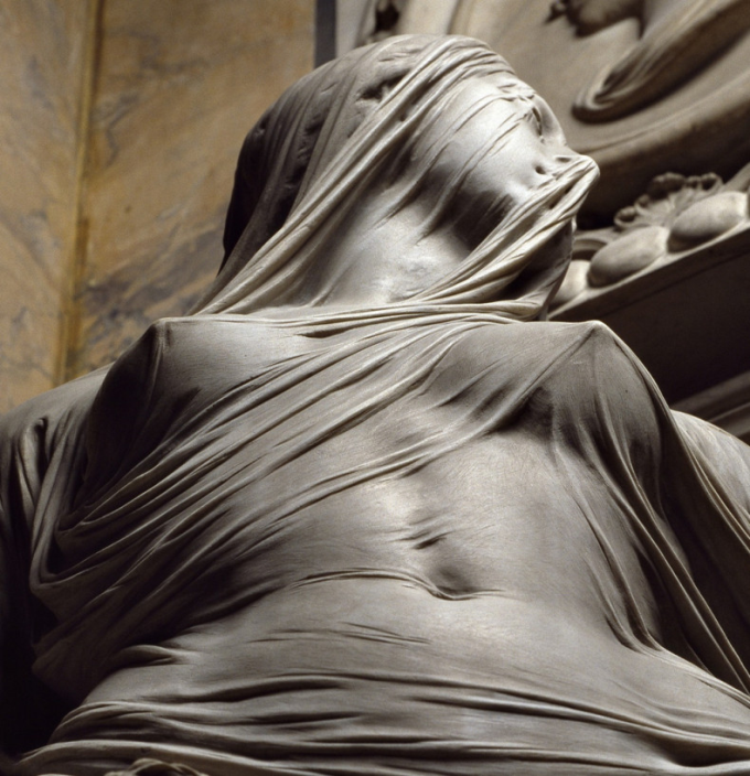 'Modesty' by Antonio Corradini (1751) carved entirely out of marble (*_*)/