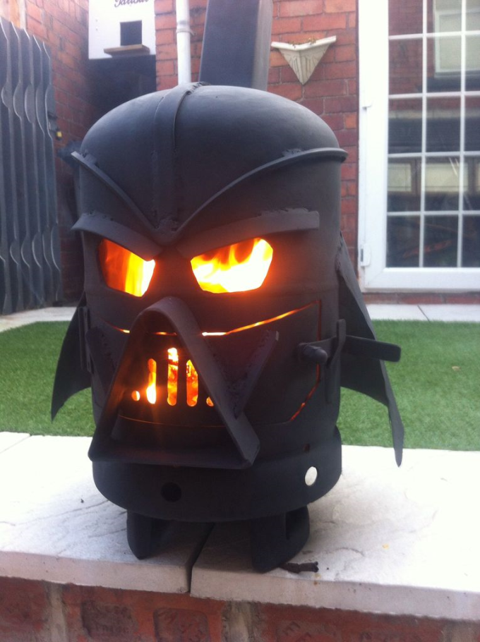 Darth Vader outdoor fireplace :P