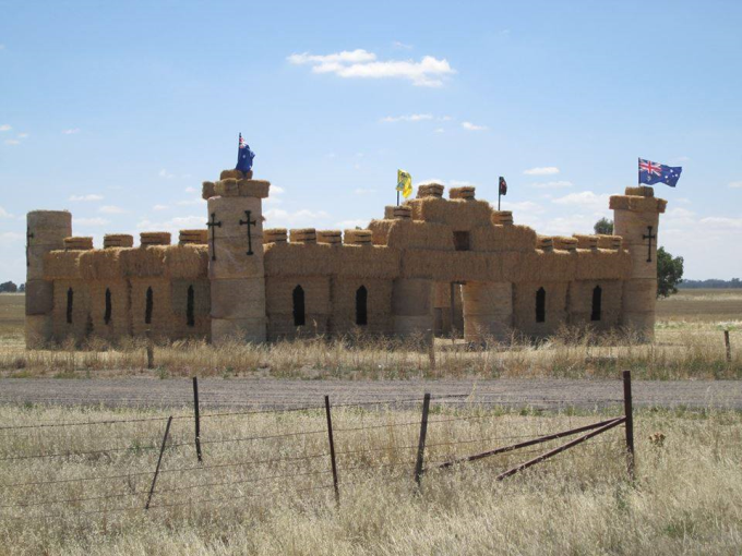 A castle made of hay bales :D
