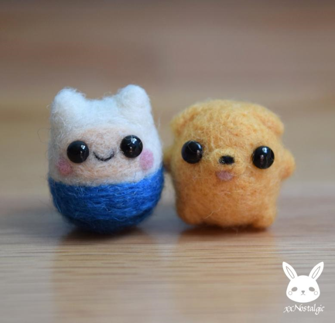 Felted Mini Finn And Jake (⌒ー⌒)ノ
