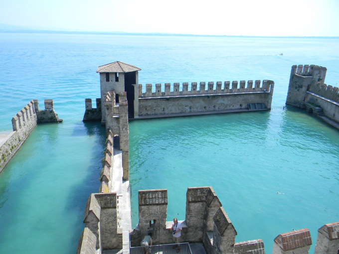 The Sinking Castle of Lake Garda, Italy :)