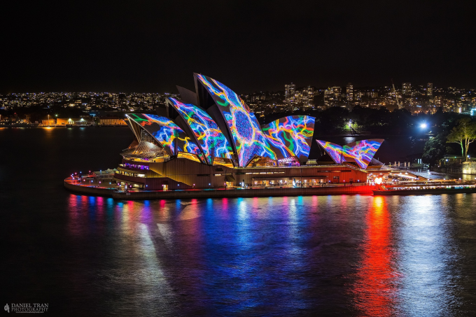 Vivid art installations over Sydney Opera house :)