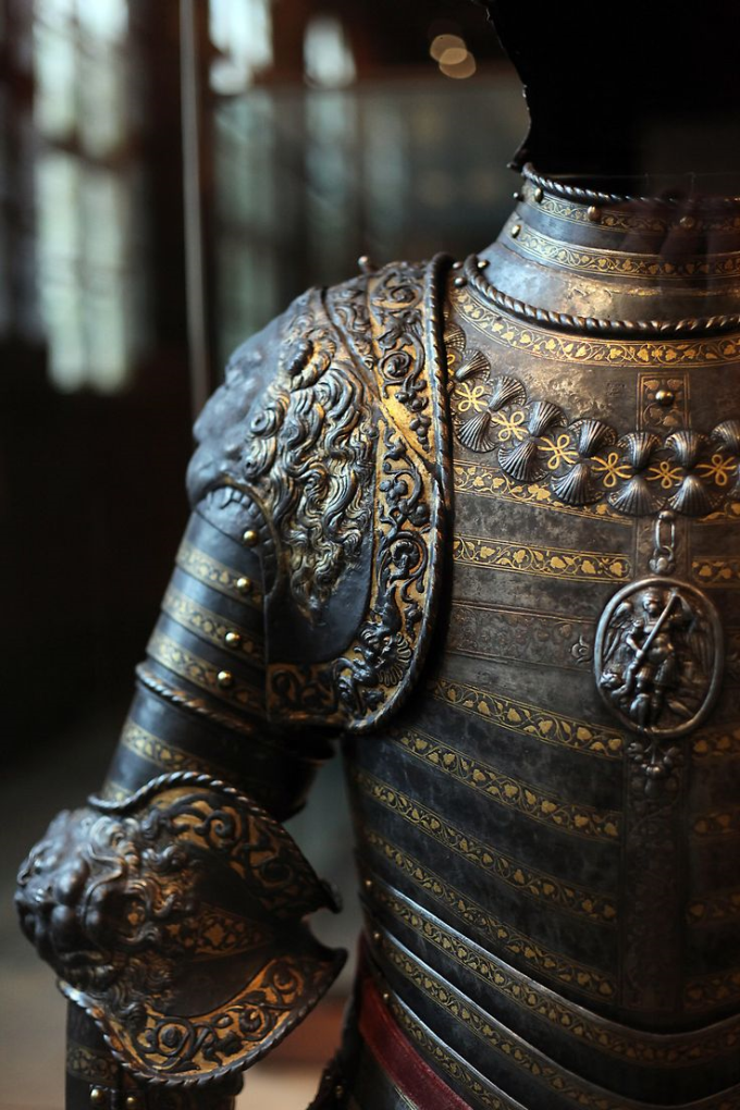 Detail of the Lion Armour of French king Henry II, 500 years old :)