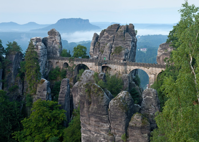 Bastei Bridge in Germany (^ー^)ノ