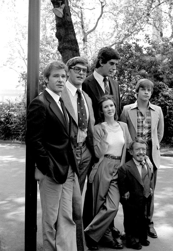 The original cast of Star Wars ~(','~)