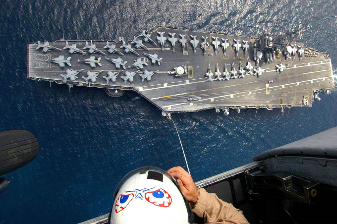 Amazing view of an aircraft carrier ʕง•ᴥ•ʔง