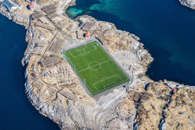 When you absolutely must play football - Lofoten Islands, Norway