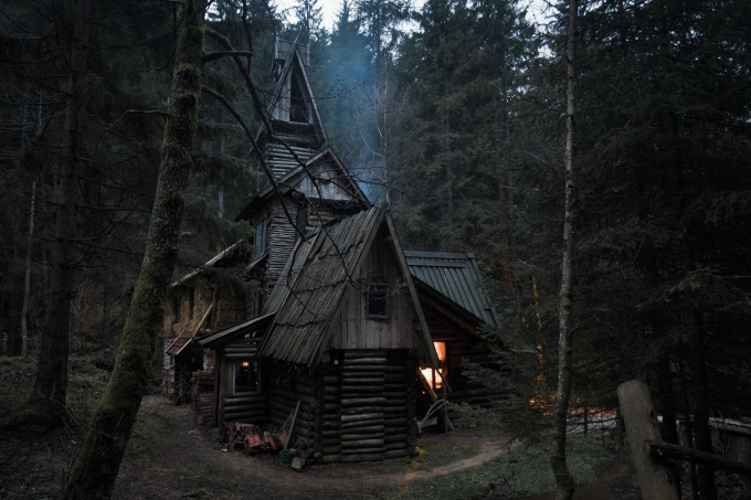 A cabin in the Bosnian woods ~(','~)