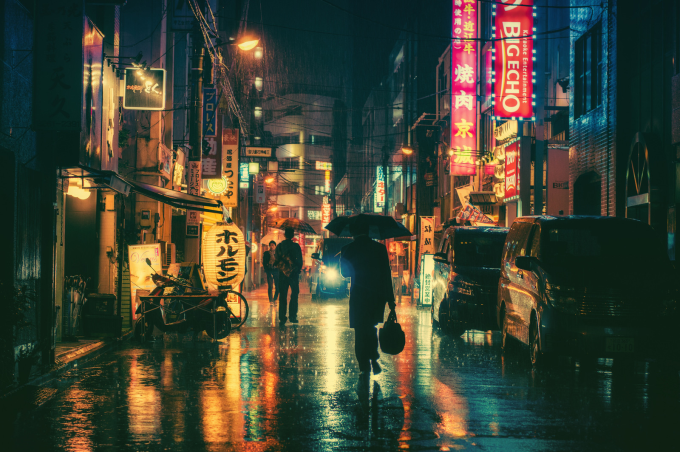 A rainy night in Tokyo :)