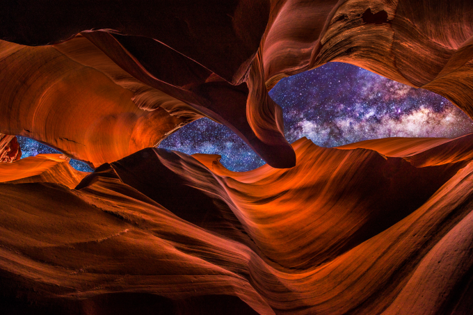 The Milky Way as seen from Antelope Canyon, Arizona