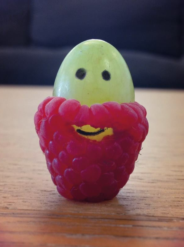 Raspberries make grape beards :P