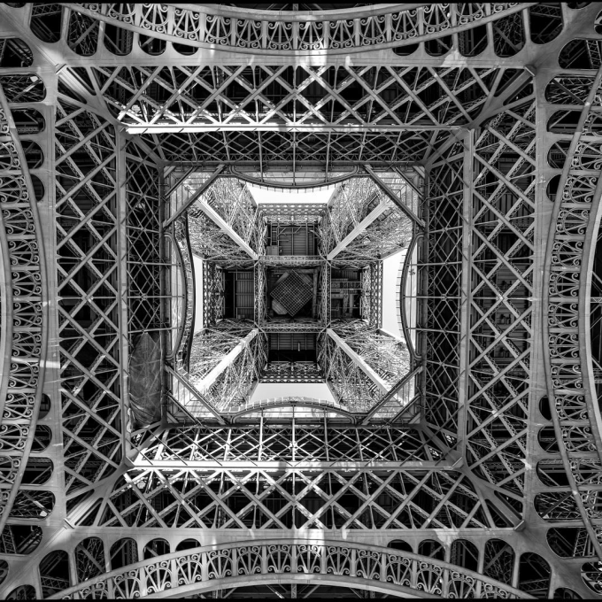 Underneath the Eiffel Tower :)