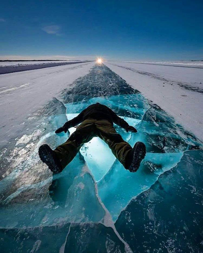 Dettah Ice Road, Yellowknife, Canada