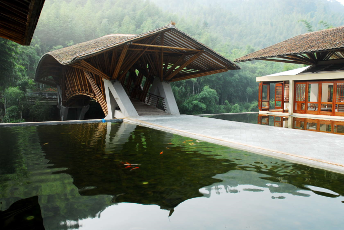 A bamboo bridge
