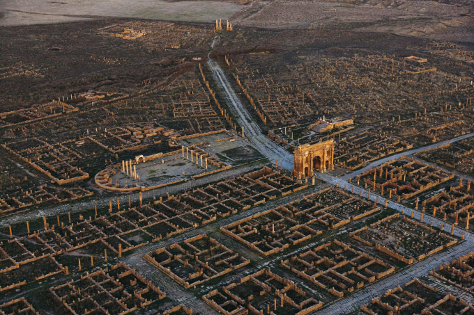 Ruins of a Roman colony in Algeria