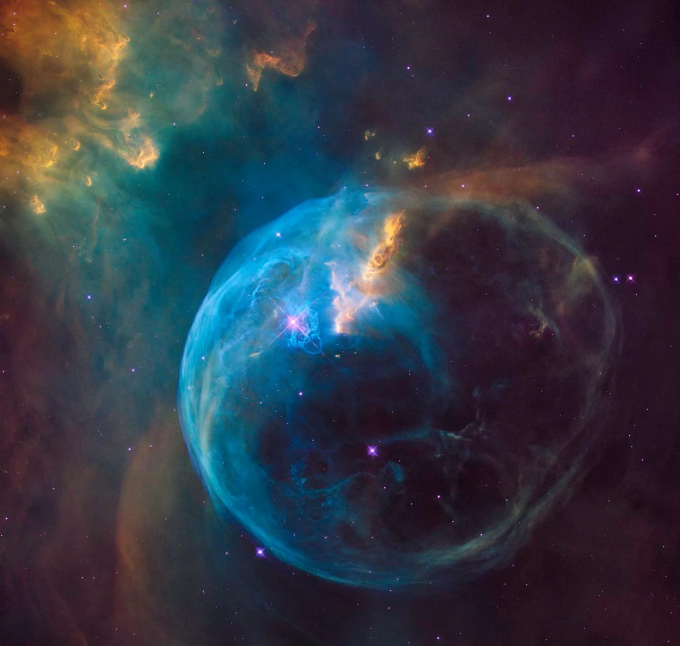 Hubble's First Picture of the Entire Bubble Nebula