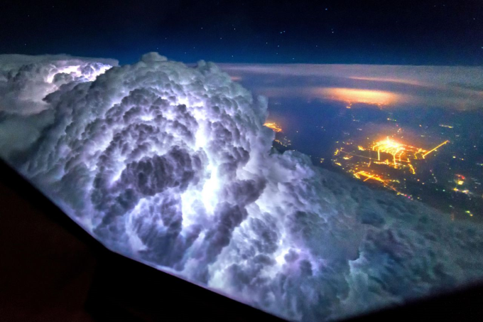 Picture of storm taken from cockpit of plane o_O