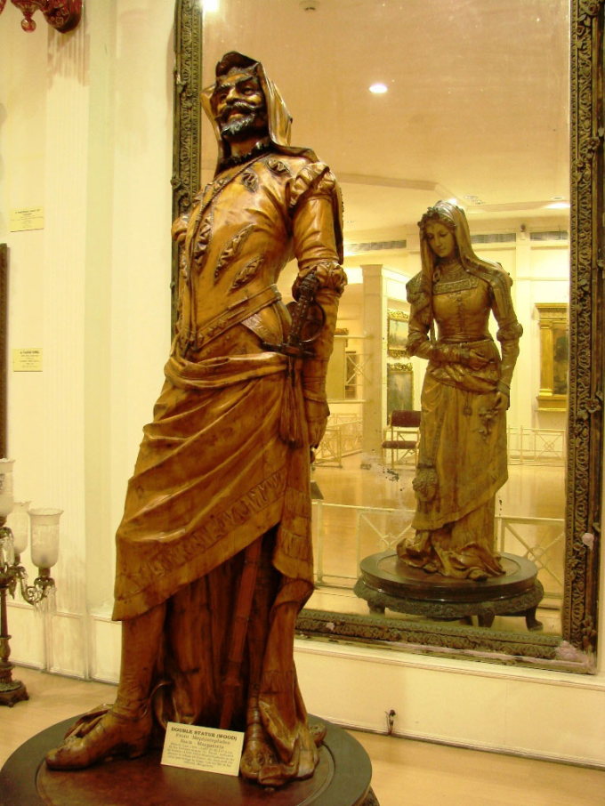 Two sided statue