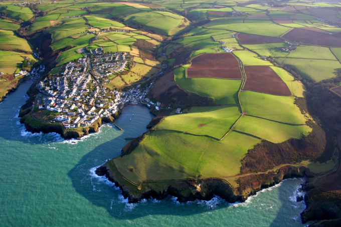 Port Isaac and the neighbouring coast of North Cornwall, England