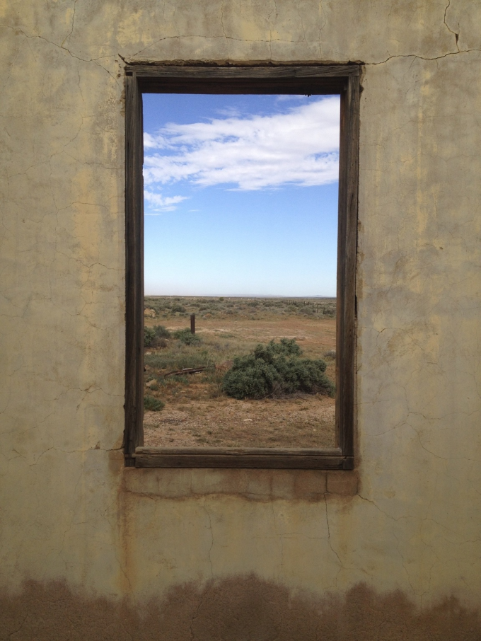 Looking out of a ruin in outback Australia. Kind of looks like a picture frame on a wall :P