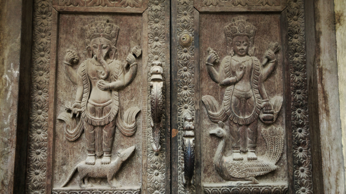 Doorway in Nepal