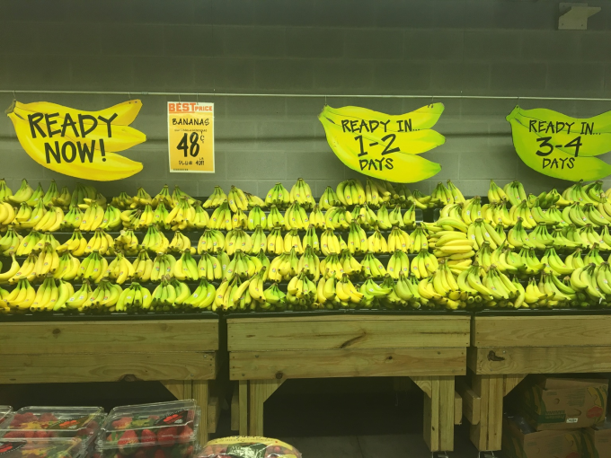 This store sorts it's Bananas by how ripe they are :O
