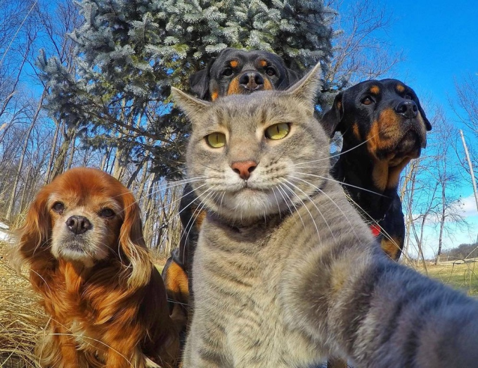 Selfie with the crew :P