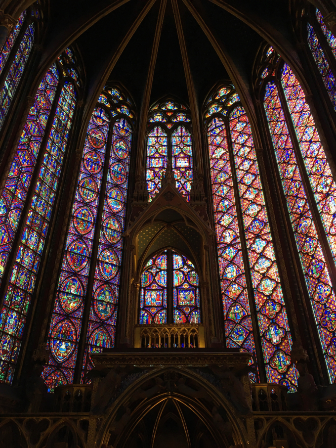 Sainte-Chapelle, completed in 1248, France