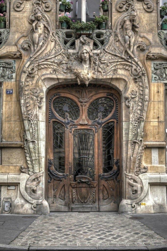 The Lavirotte building's door, Paris (Built in 1901)