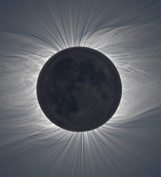 Solar Eclipse taken by an infrared camera