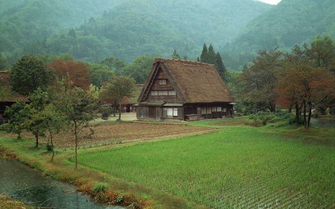 Farmhouse in the Rain, Japan :O